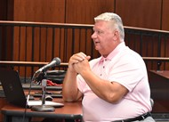 Assistant Superintendent Bill Clifton updates the Van Wert Board of Education on the first days of school.