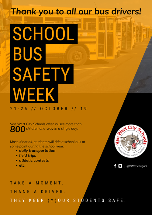 2019 National School Bus Safety Week flyer