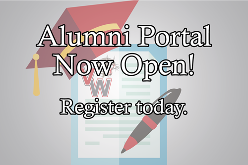 Alumni Portal Now Open graphic