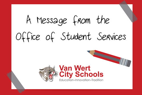 A message from the office of student services graphic