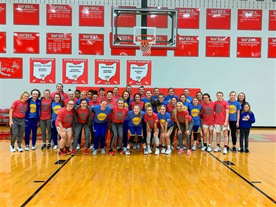 Pictured are members of the YWCA, Lincolnview basketball team, and Van Wert basketball team.