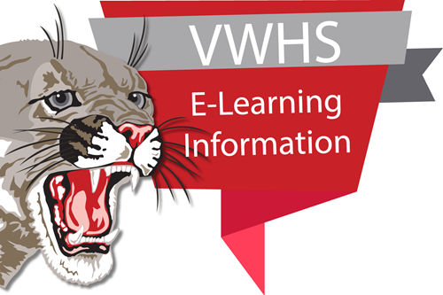 VWHS E-Learning Information with cougar head