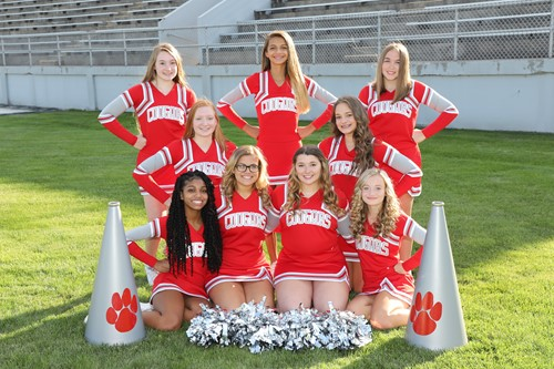 VWHS JV football cheerleaders