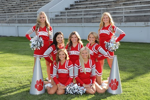 VWHS Varsity Football Cheerleaders