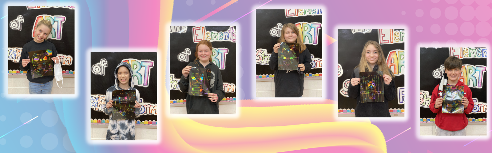 VWES art students show off their colorful artwork