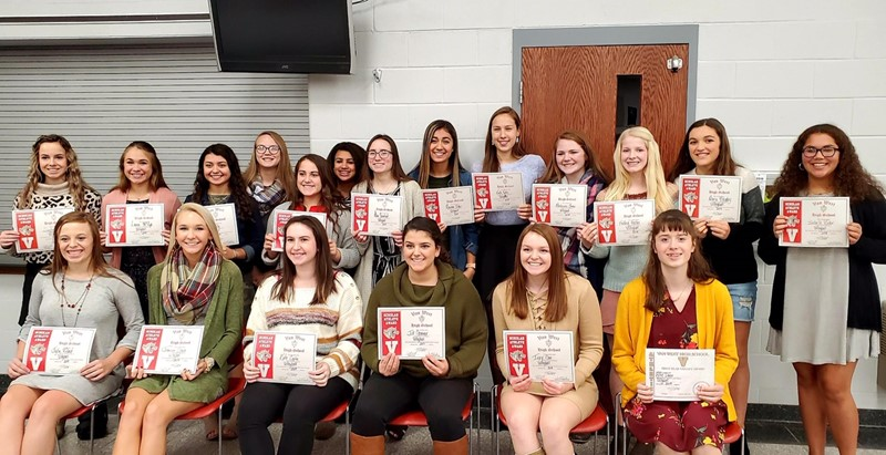 VWHS Volleyball Scholar Athletes